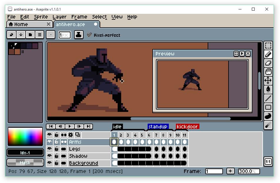 Aseprite - Animated sprite editor & pixel art tool v1 1