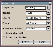 Aseprite - Docs - Exporting